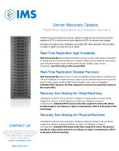 Server Recovery Options